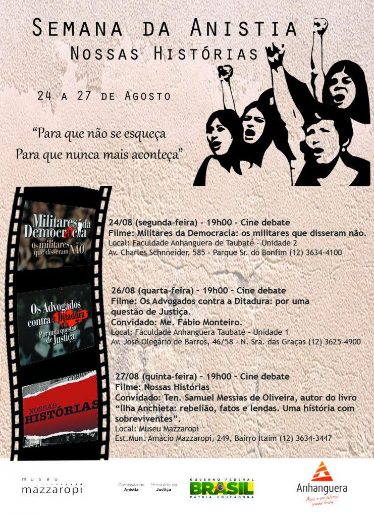 Cartaz Semana da Anistia okokjpg