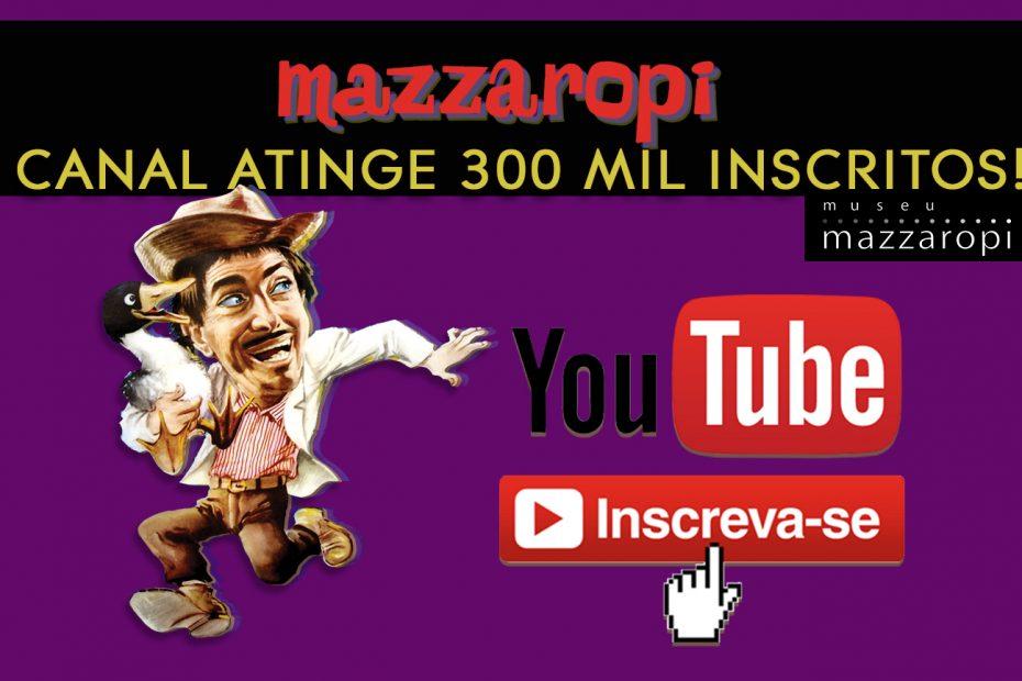 Canal Youtube do Museu Atinge 300 Mil Inscritos